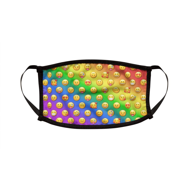 Emoji Faces Rainbow Accessories Face Mask by Pixel and Poly's Artist Shop