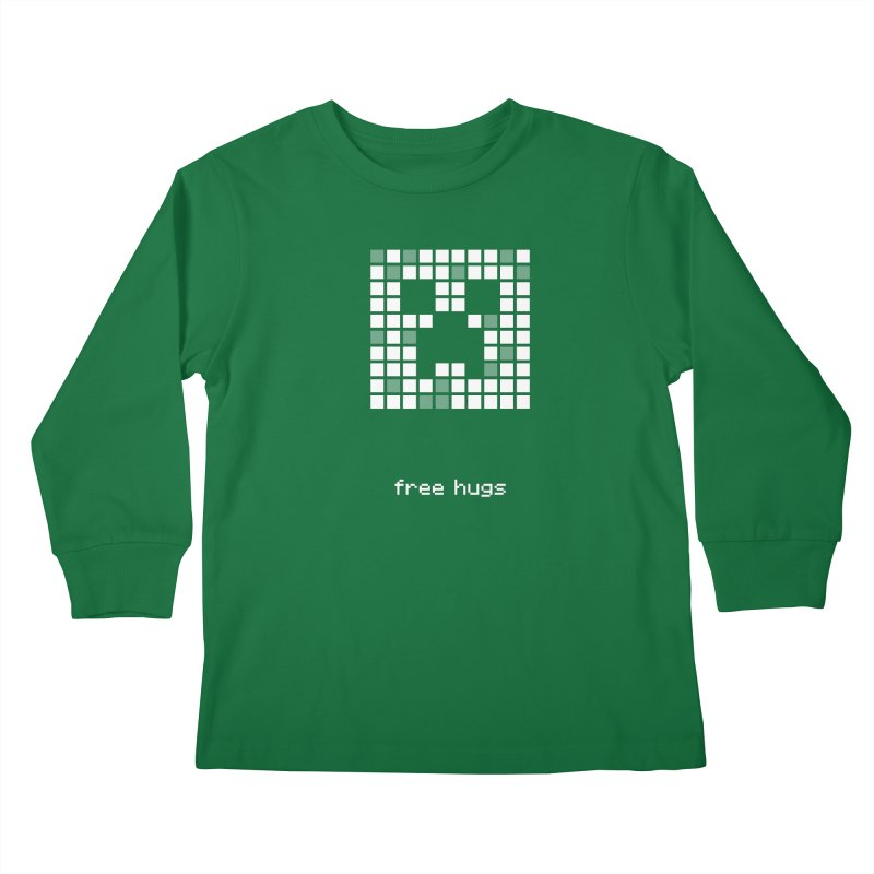 free hugs - Creeper Kids Longsleeve T-Shirt by Pixel and Poly's Artist Shop
