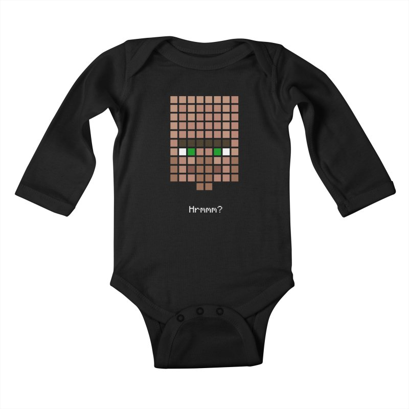 Villager Hrmmm? Kids Baby Longsleeve Bodysuit by Pixel and Poly's Artist Shop