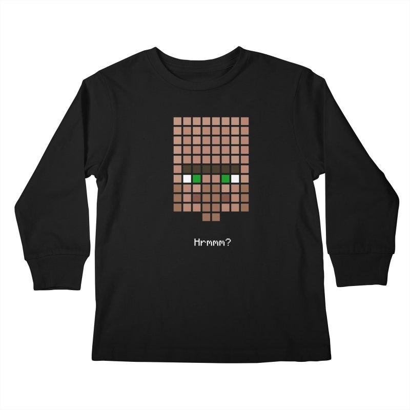 Villager Hrmmm? Kids Longsleeve T-Shirt by Pixel and Poly's Artist Shop