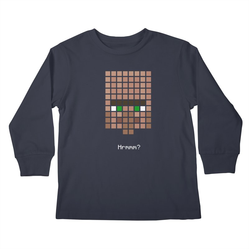 Villager Hrmmm? Kids Longsleeve T-Shirt by Pixel and Poly's Artist Shop