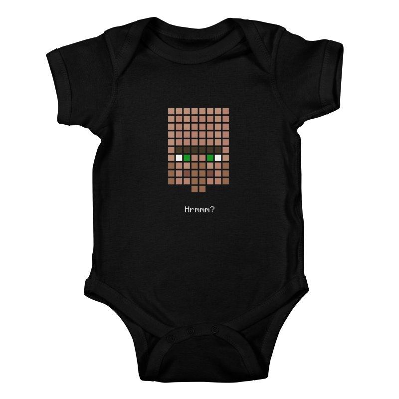 Minecraft - Villager Hrmmm? Kids Baby Bodysuit by Pixel and Poly's Artist Shop