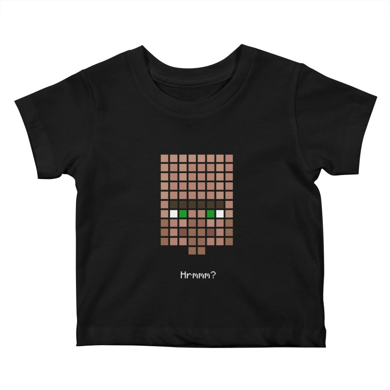 Minecraft - Villager Hrmmm? Kids Baby T-Shirt by Pixel and Poly's Artist Shop