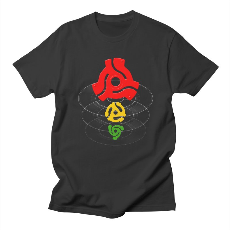 45 Record Adapters in Men's T-Shirt Smoke by Pixel and Poly's Artist Shop