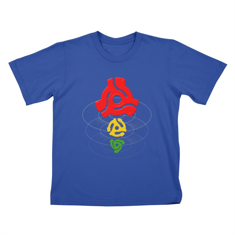 45 Record Adapters Kids T-Shirt by Pixel and Poly's Artist Shop