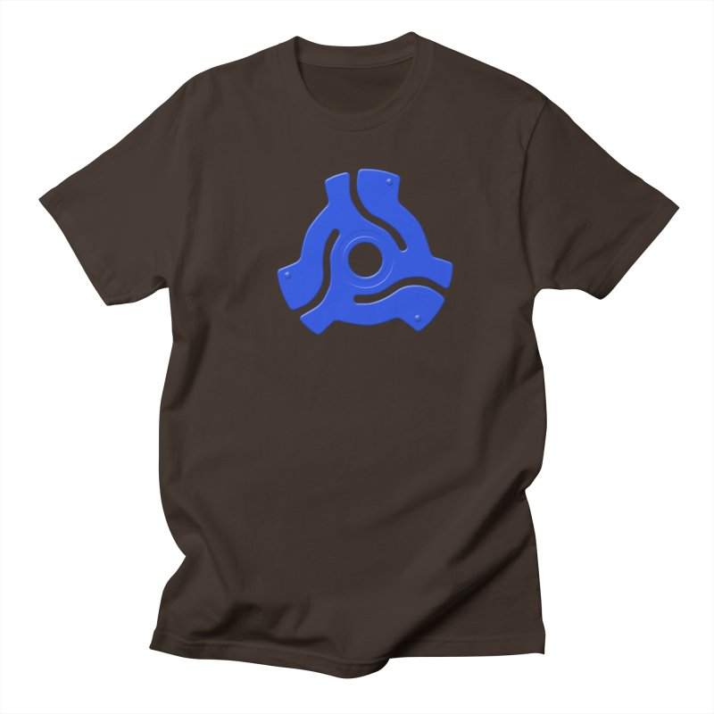 45 Record Adapter - blue Men's Regular T-Shirt by Pixel and Poly's Artist Shop