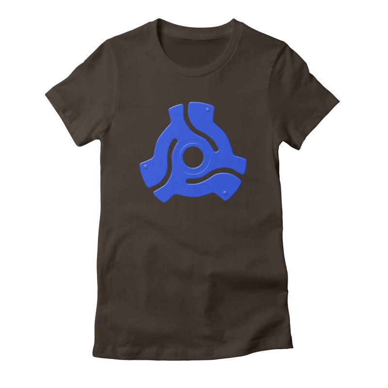 45 Record Adapter - blue Women's Fitted T-Shirt by Pixel and Poly's Artist Shop