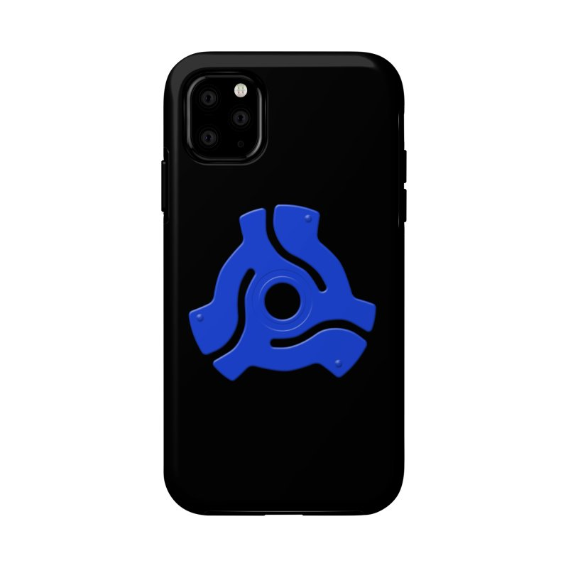 45 Record Adapter - blue Accessories Phone Case by Pixel and Poly's Artist Shop