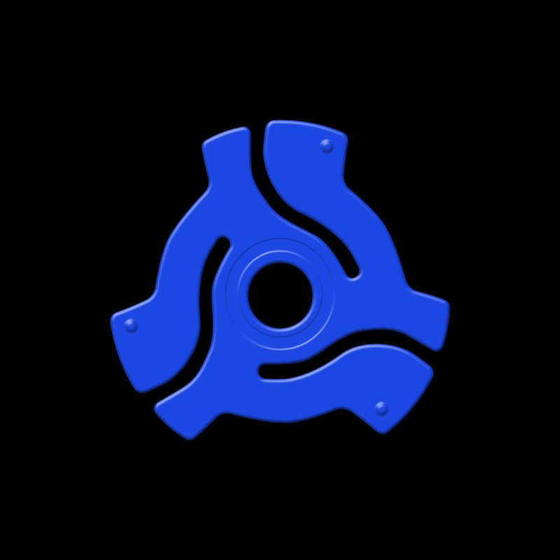 45 Record Adapter - blue by Pixel and Poly's Artist Shop