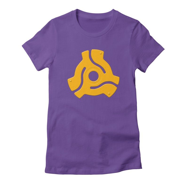 45 Record Adapter - yellow/orange Women's T-Shirt by Pixel and Poly's Artist Shop