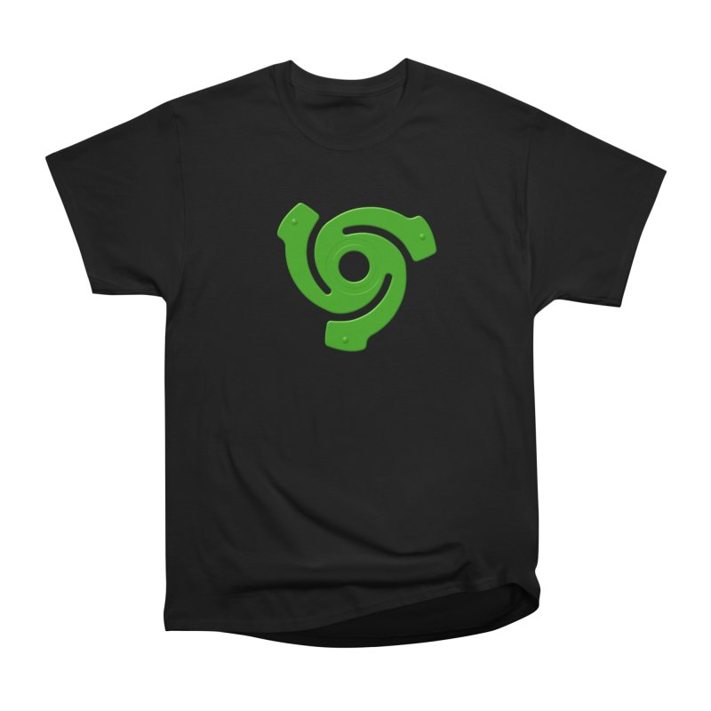 45 Record Adapter v2 - green Women's Heavyweight Unisex T-Shirt by Pixel and Poly's Artist Shop