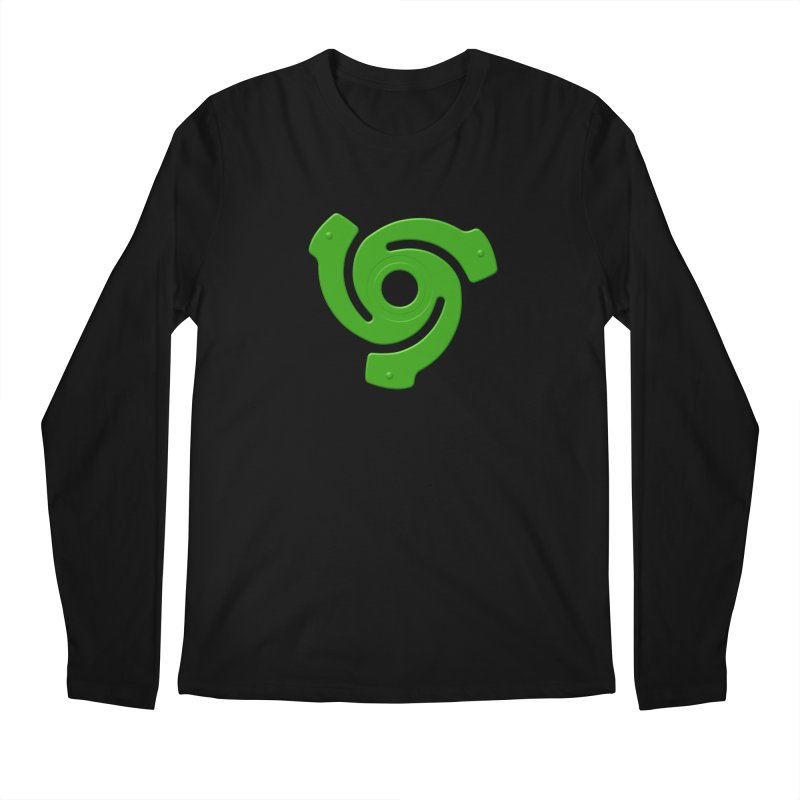 45 Record Adapter v2 - green Men's Regular Longsleeve T-Shirt by Pixel and Poly's Artist Shop