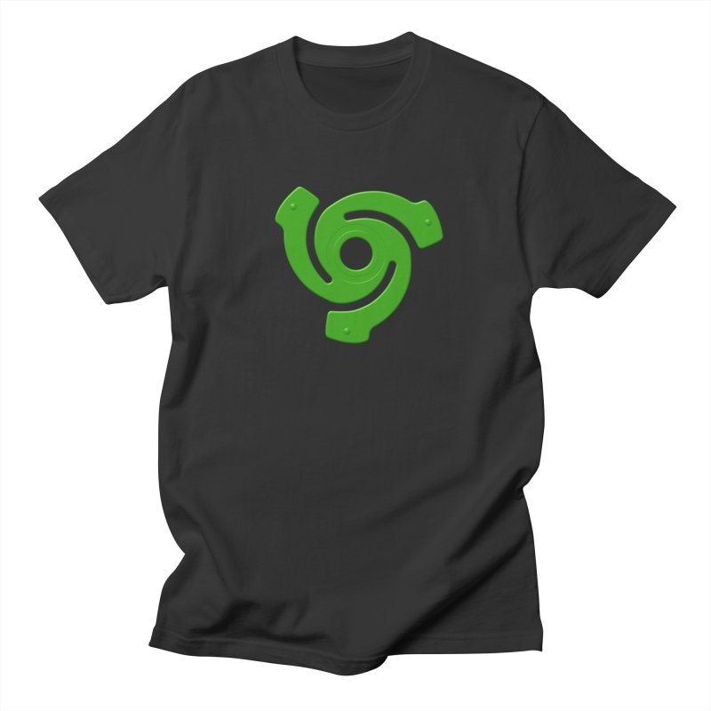 45 Record Adapter v2 - green in Men's Regular T-Shirt Smoke by Pixel and Poly's Artist Shop
