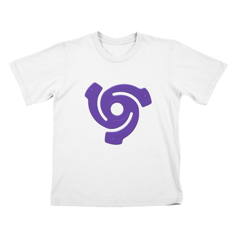 45 Record Adapter v2 in Purple Kids T-Shirt by Pixel and Poly's Artist Shop