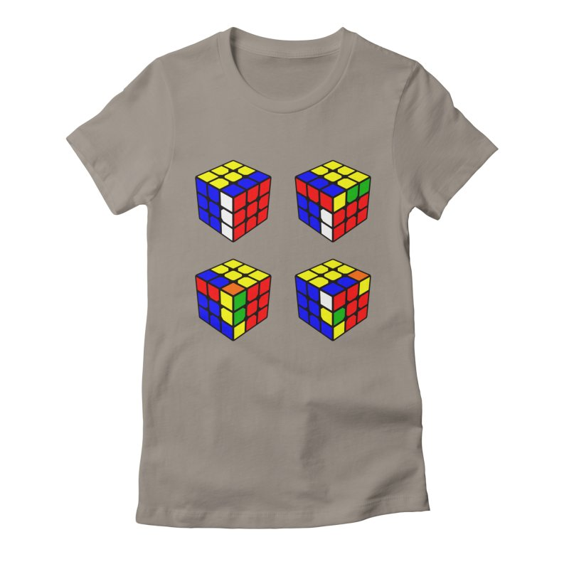 Speed Cubing sexy move Women's Fitted T-Shirt by Pixel and Poly's Artist Shop