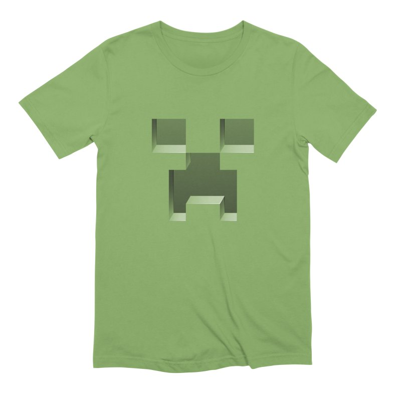 Creeper - negative cut out design Men's Extra Soft T-Shirt by Pixel and Poly's Artist Shop