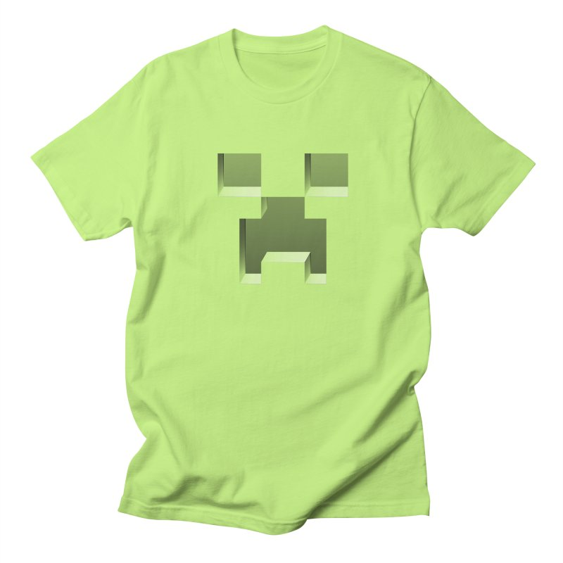 Creeper - negative cut out design in Men's Regular T-Shirt Neon Green by Pixel and Poly's Artist Shop