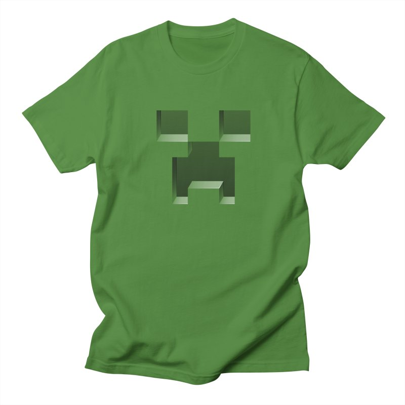 Creeper - negative cut out design Men's Regular T-Shirt by Pixel and Poly's Artist Shop