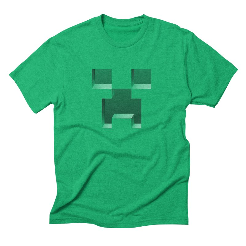 Creeper - negative cut out design Men's Triblend T-Shirt by Pixel and Poly's Artist Shop