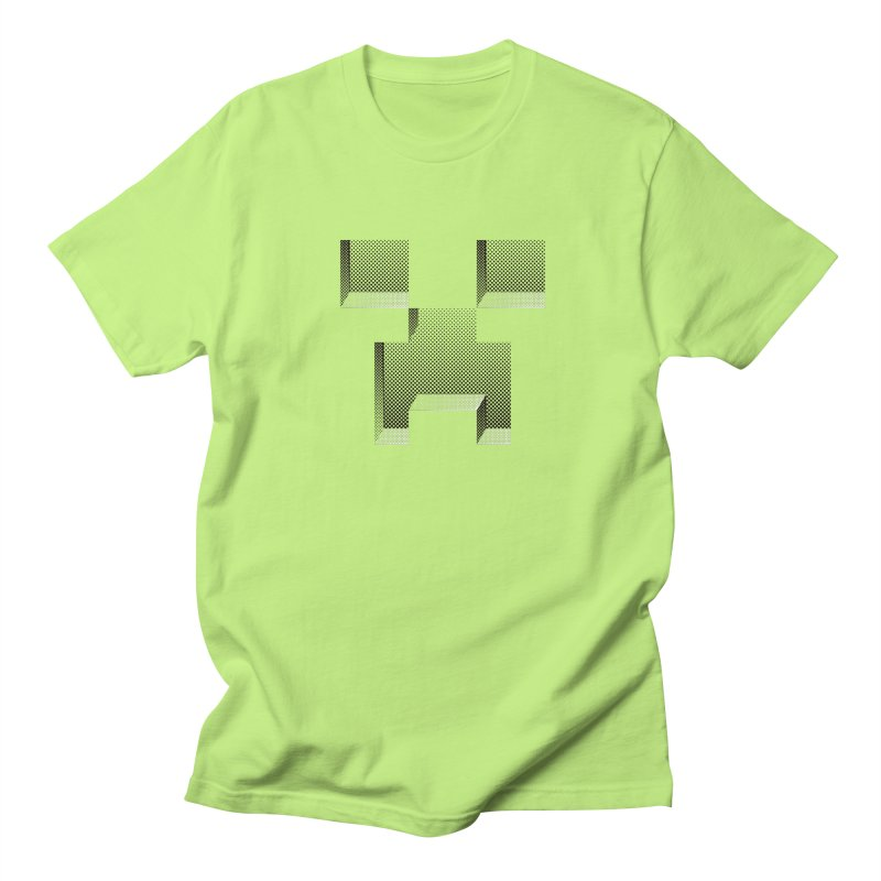 Creeper - negative halftone cut out design Men's T-Shirt by Pixel and Poly's Artist Shop