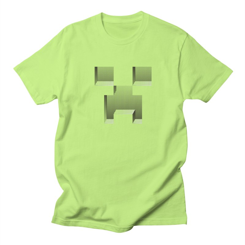 Creeper - negative halftone cut out design Men's Regular T-Shirt by Pixel and Poly's Artist Shop