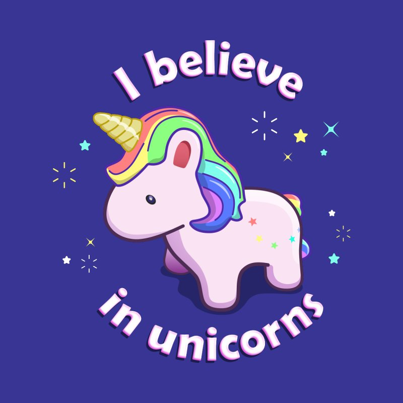 I believe in Unicorns Women's T-Shirt by Pixel and Poly's Artist Shop