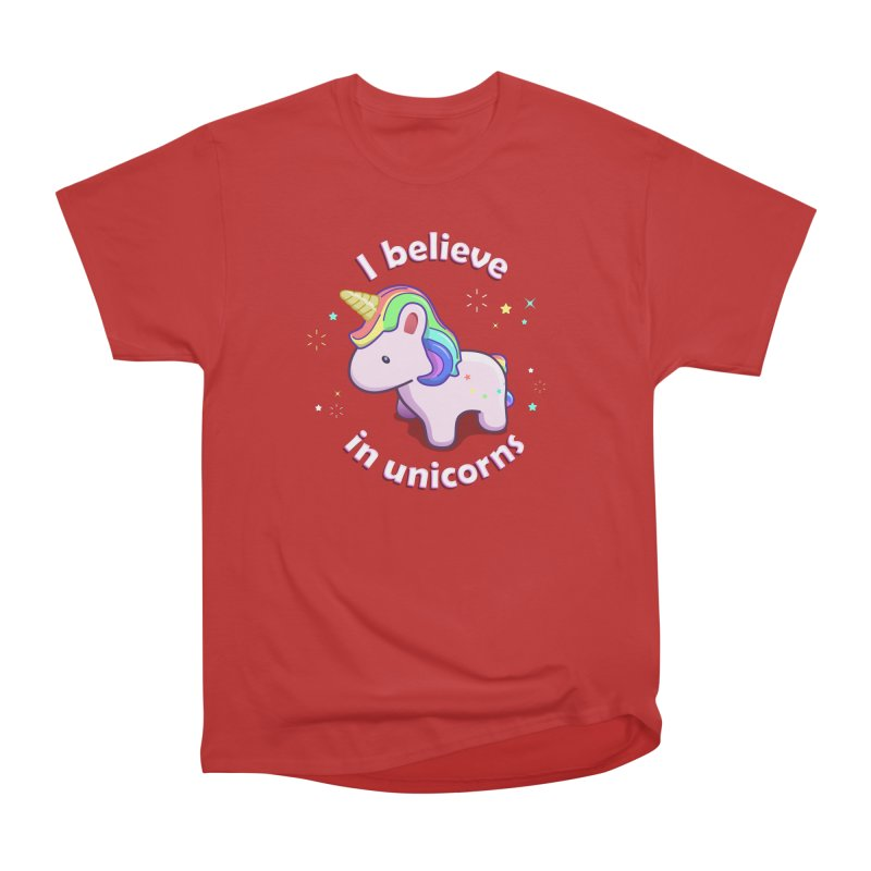 I believe in Unicorns Men's Heavyweight T-Shirt by Pixel and Poly's Artist Shop