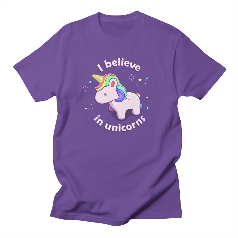 I believe in Unicorns Men's T-Shirt by Pixel and Poly's Artist Shop