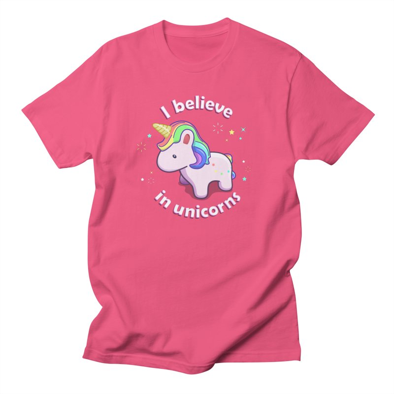 I believe in Unicorns Women's Regular Unisex T-Shirt by Pixel and Poly's Artist Shop