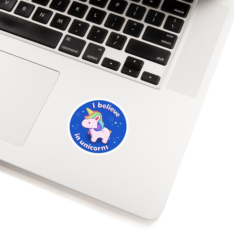 I believe in unicorns - products Accessories Sticker by Pixel and Poly's Artist Shop