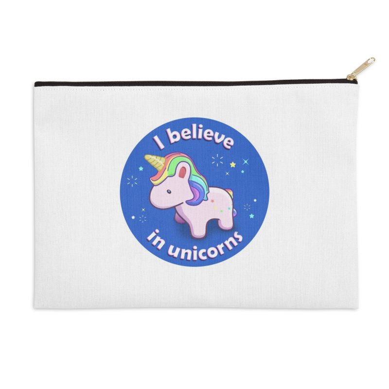 I believe in unicorns - products Accessories Zip Pouch by Pixel and Poly's Artist Shop