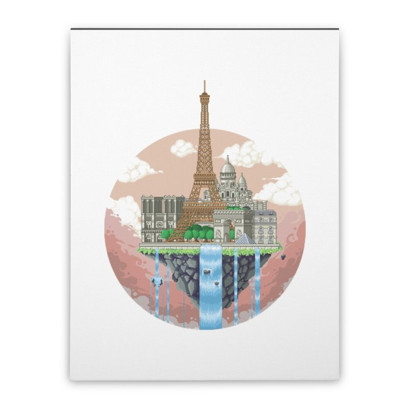 PARIS Floating City Home Stretched Canvas by pixelartmafia's Artist Shop