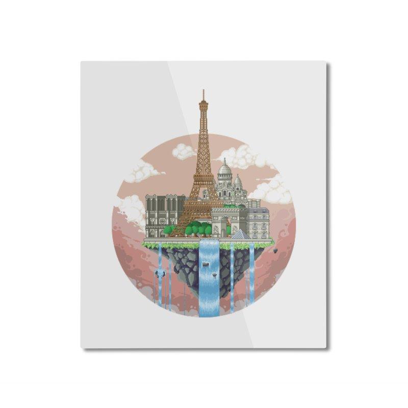 PARIS Floating City Home Mounted Aluminum Print by pixelartmafia's Artist Shop
