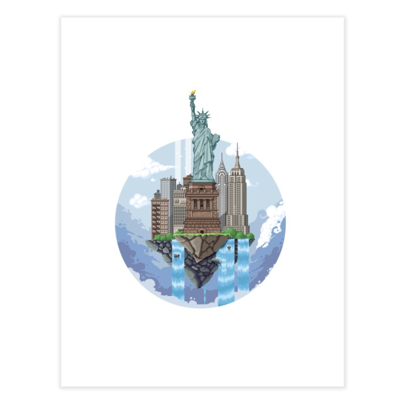 NEW YORK Floating City Home Fine Art Print by pixelartmafia's Artist Shop