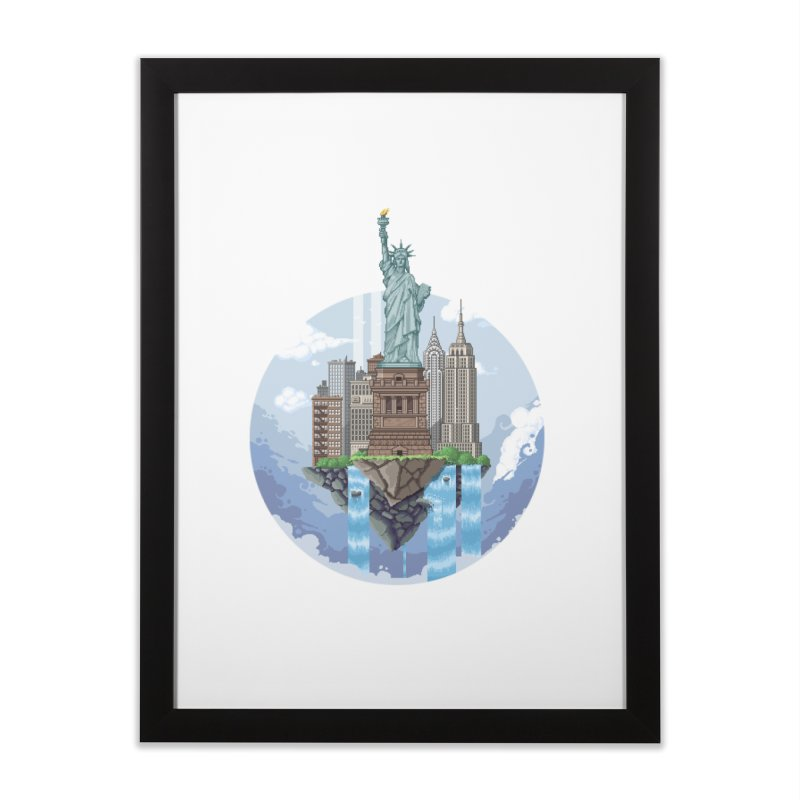 NEW YORK Floating City Home Framed Fine Art Print by pixelartmafia's Artist Shop