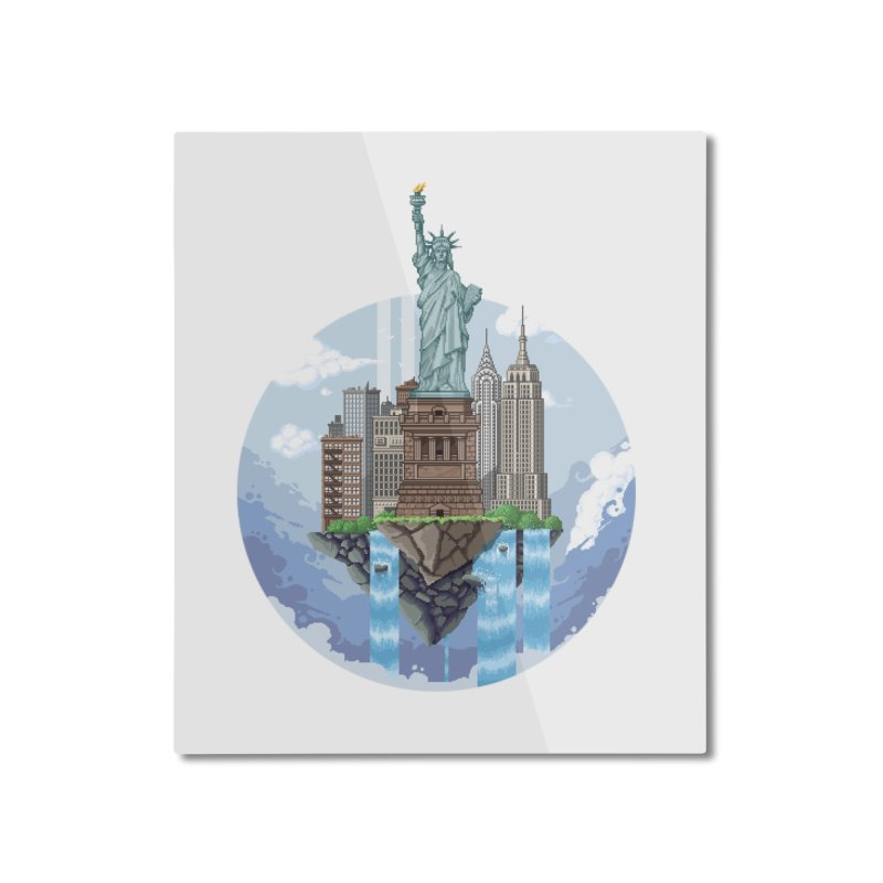 NEW YORK Floating City Home Mounted Aluminum Print by pixelartmafia's Artist Shop