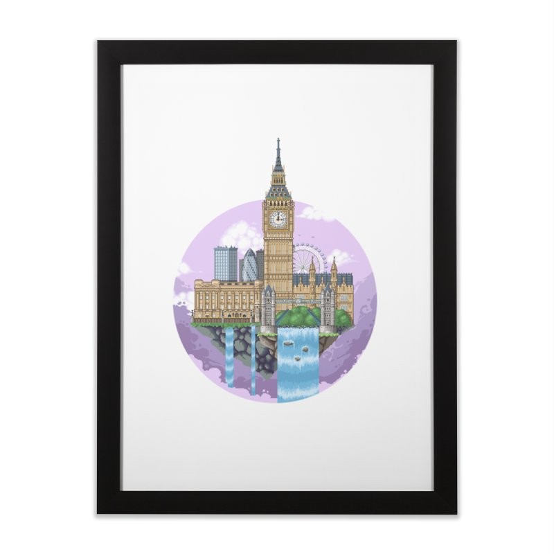 LONDON Floating City Home Framed Fine Art Print by pixelartmafia's Artist Shop