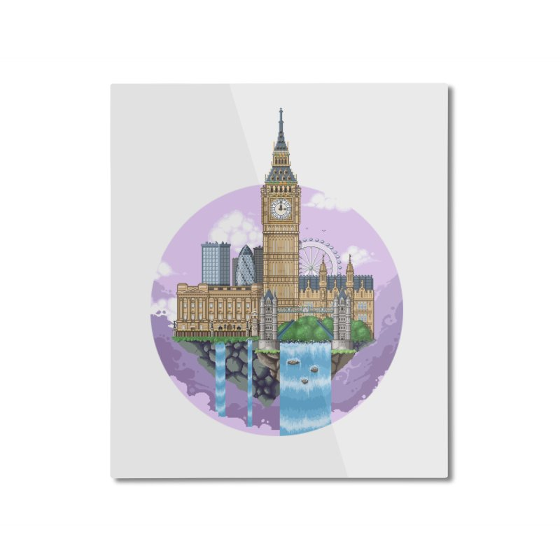 LONDON Floating City Home Mounted Aluminum Print by pixelartmafia's Artist Shop