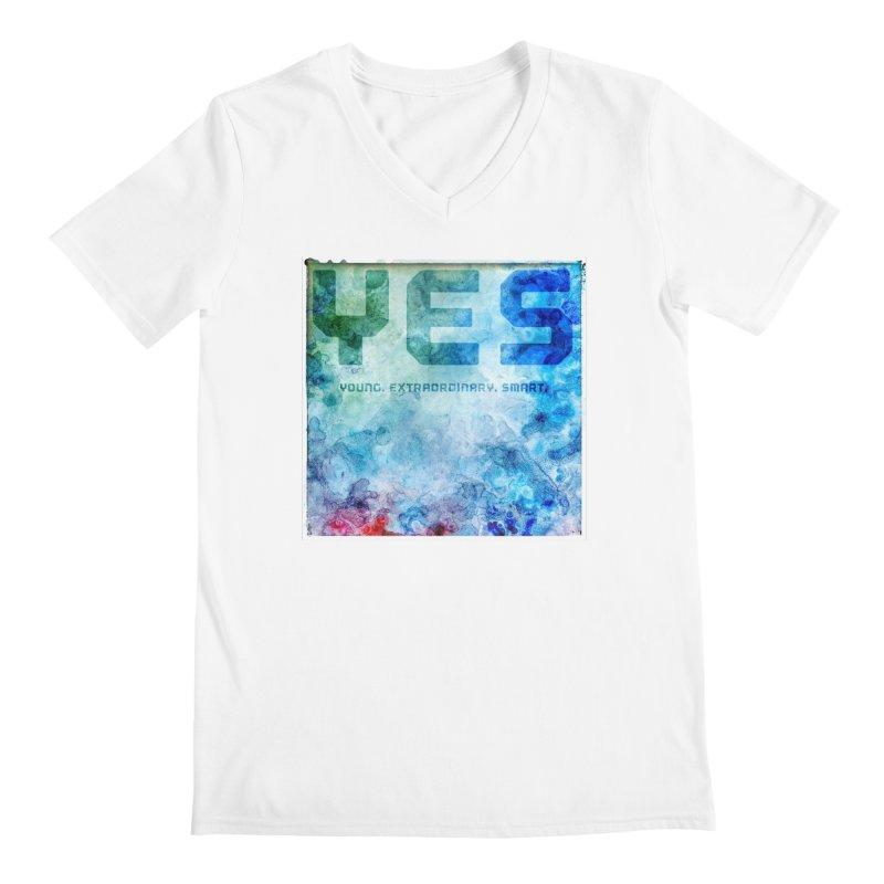 YES! Men's V-Neck by pixeldelta's Artist Shop