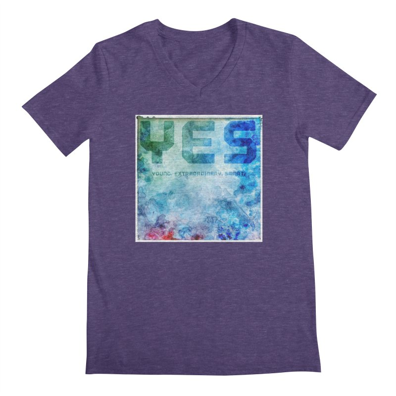 YES! Men's V-Neck by pixeldelta's Artist Shop