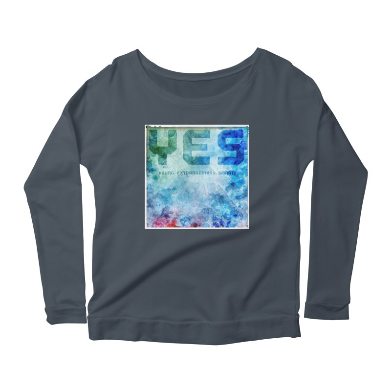 YES! Women's Longsleeve Scoopneck  by pixeldelta's Artist Shop