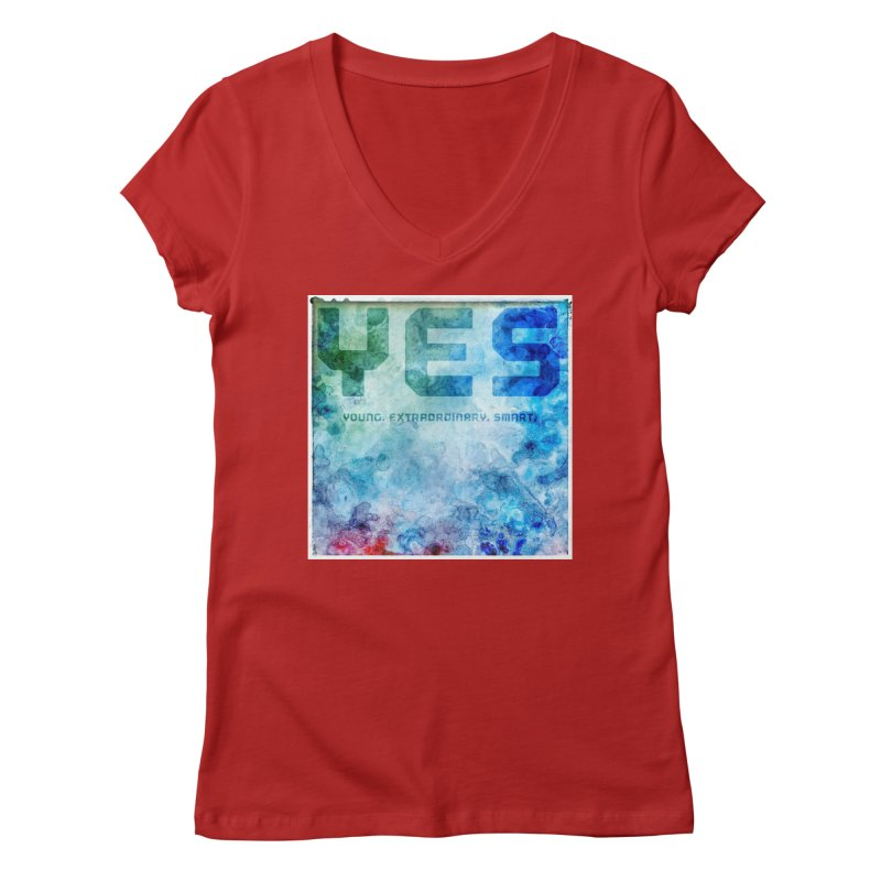 YES! Women's V-Neck by pixeldelta's Artist Shop