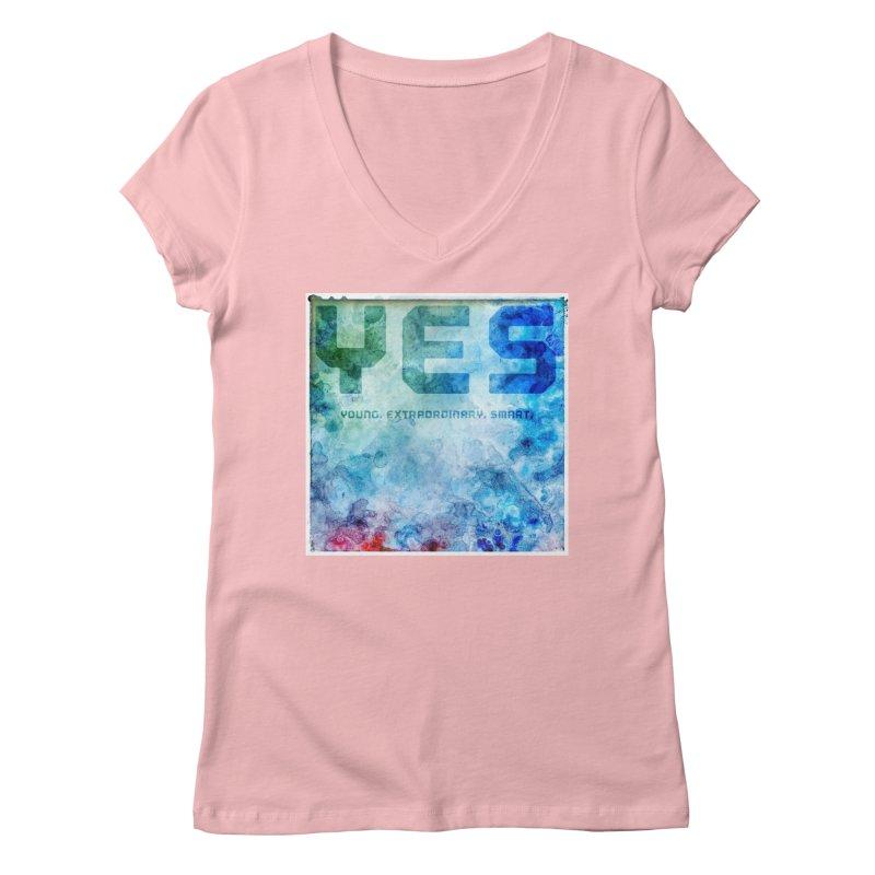 YES! Women's V-Neck by pixeldelta's Artist Shop
