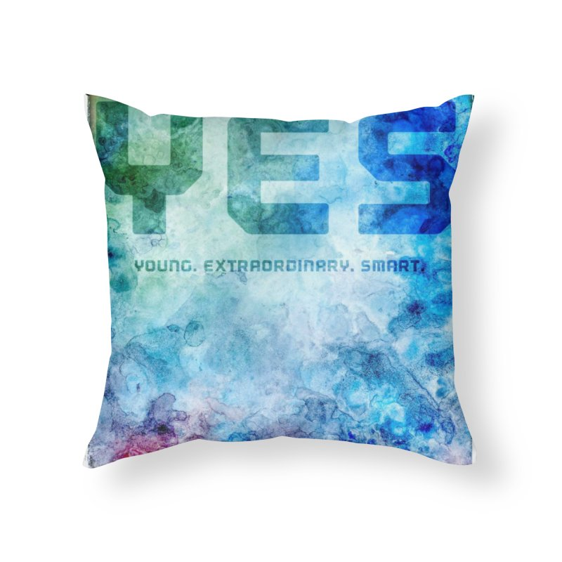 YES! Home Throw Pillow by pixeldelta's Artist Shop