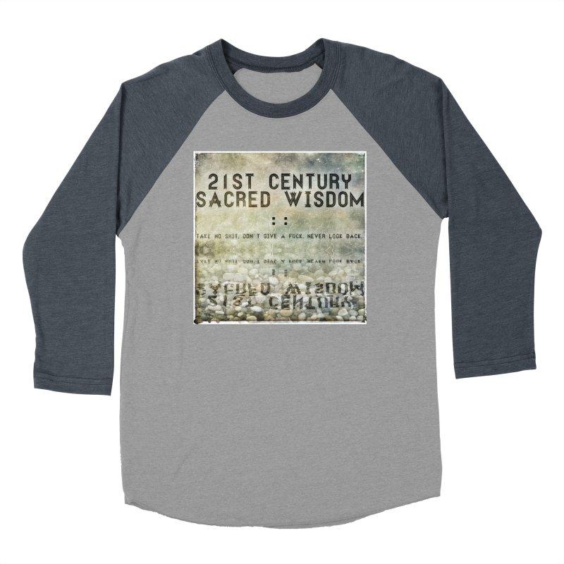 Wisdom Women's Baseball Triblend T-Shirt by pixeldelta's Artist Shop