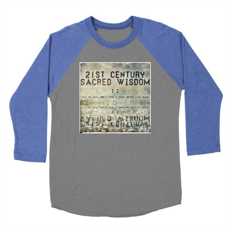 Wisdom Men's Baseball Triblend T-Shirt by pixeldelta's Artist Shop