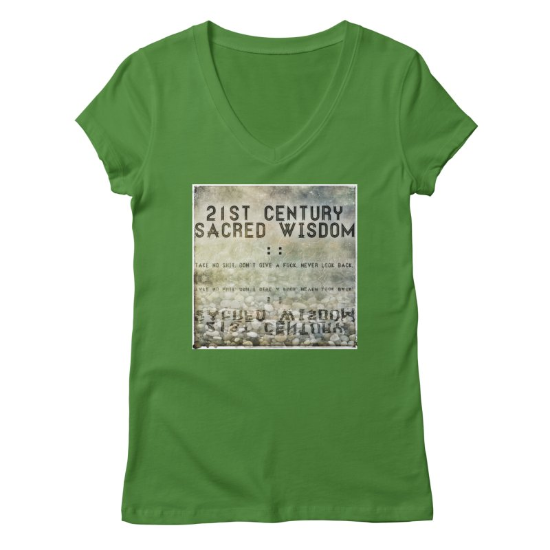 Wisdom Women's V-Neck by pixeldelta's Artist Shop