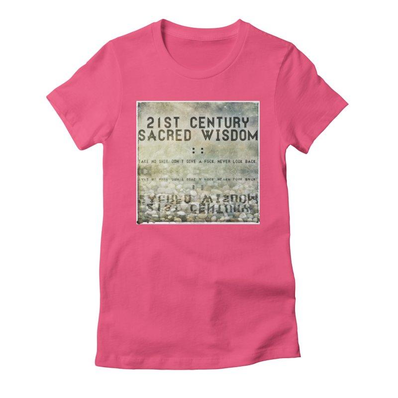 Wisdom Women's Fitted T-Shirt by pixeldelta's Artist Shop