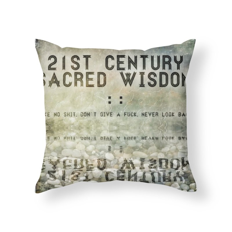 Wisdom Home Throw Pillow by pixeldelta's Artist Shop