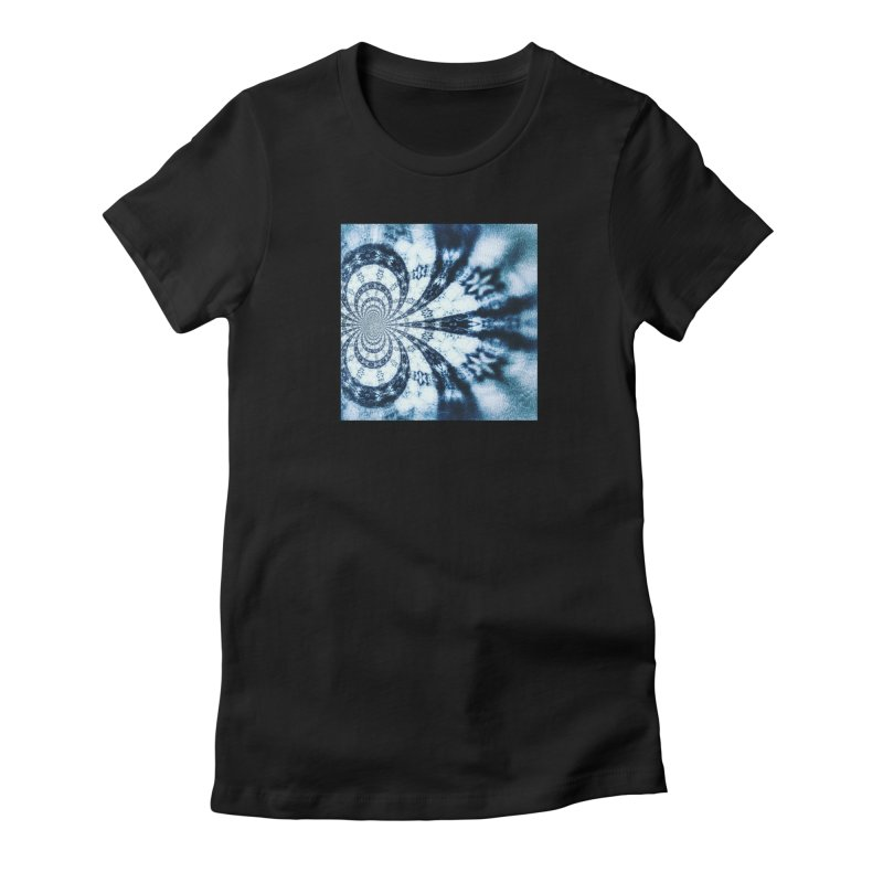 abstract square - art 1 Women's Fitted T-Shirt by pixeldelta's Artist Shop